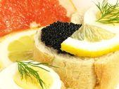 Caviar snack, closeup — Stock Photo