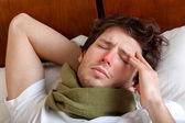 Man having a flu — Stock Photo