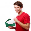 Man with envelope — Stock Photo #39482267