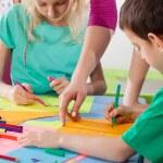 Children enjoy drawing — Stock Photo