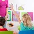 Stock Photo: Children on art lesson