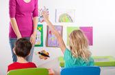 Children on art lesson — Stock Photo