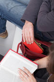 Purse out of bag — Stock Photo