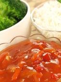 Vegetarian dinner — Stock Photo