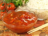 Sauce for rice — Stock Photo