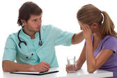 Close relation between doctor and patient — Stock Photo