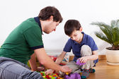 Young father spending time with son — Stock Photo