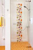 Colorful modern shower — Zdjęcie stockowe