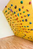 Small yellow climbing wall — Stock Photo