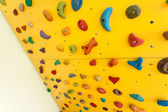 Small climbing wall for children — Stock Photo