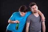 Betrunken Männer Freunde — Stockfoto