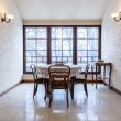 Stock Photo: Old-fashioned dining room in luxury stylish mansion