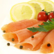 Salmon appetizer, closeup — Stock Photo