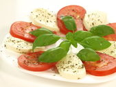 Caprese salad, isolated — Stock Photo