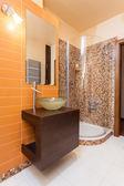 Classy house - orange bathroom — Stock Photo