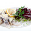 Herring and beet appetizer — Stock Photo #40431287