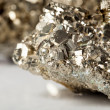 Golden pyrite stone — Stock Photo