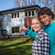Couple's new house — Stock Photo