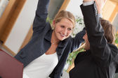 Teamwork celebrating success — Stock Photo