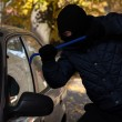 Car window break-in — Stock Photo