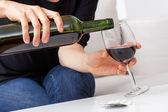 Wine in glass — Stock Photo
