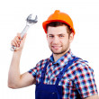 Professional repairman with wrench — Stock Photo