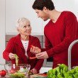 Elderly lady with her son — Stock Photo #40738705