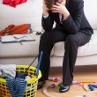 Stock Photo: Businesswomand children's mess