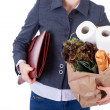 Stockfoto: Businesswomgrocery shopping
