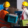 Factory workers during work — Stock Photo