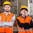 Stock Photo: Happy employees in warehouse