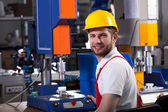 Factory worker during work — Stock Photo