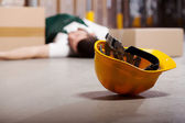 Acidente perigoso durante o trabalho — Fotografia Stock