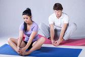 Stretching rehabilitation exercises — Stock Photo