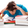 Too much studying — Stock Photo