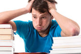 Studying from books — Stock Photo