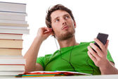 Lazy student chilling — Stock Photo