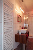 Ruby house - Heater, wash basin and shower — Stock Photo