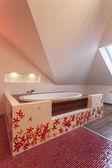 Casa rubí - caída en el baño — Foto de Stock