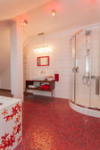Ruby house - Bathroom interior — Foto Stock