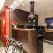 Ruby house - Kitchen with bar counter — Stock Photo #41342641