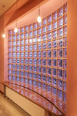 Amaranth house - Glass blocks wall — Stock fotografie