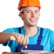 Happy builder — Stock Photo