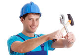 Smiled handy man — Stock Photo