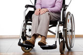 Woman on wheelchair — Stock Photo