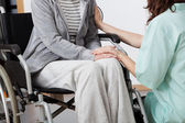 Nurse supporting patient — Stock Photo
