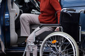 Disabled driver — Stock Photo