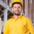 Supervisor during job in warehouse — Stock Photo #41588447