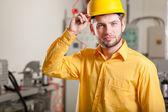 Engineer during work — ストック写真