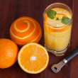 Stock Photo: Orange long drink